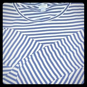 J. Crew striped long-sleeve top size L.